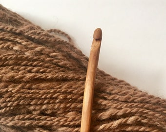 Hand Carved Crochet Hook - Size J (US) Wood Handmade