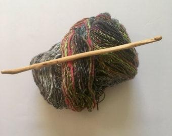Hand Carved Crochet Hook - Size K (US)