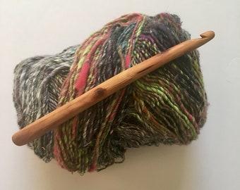 Hand Carved Crochet Hook - Size L (US)