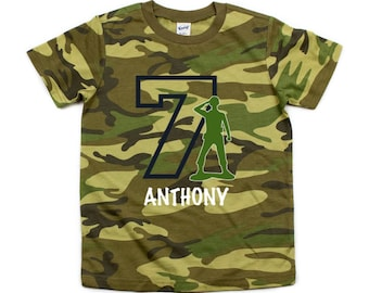 221ed94f3 camo birthday t-shirt | boys camoflague tee | personalized boys army man birthday  t-shirt in green and black camo