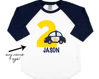 a7a9d3e3d00089 boys police birthday raglan t-shirt