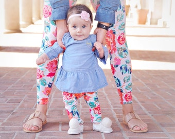 78eba50f129 mother daughter matching outfits mommy and me leggings mothers day gift for  girl mom baby girl outfits baby shower gift for new mom