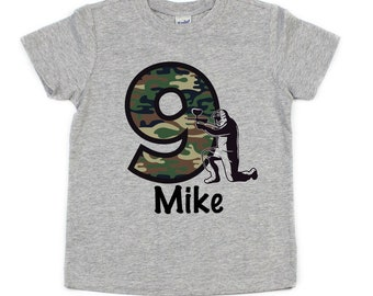 aa6ce626 paintball camo birthday t-shirt | personalized boys camouflage birthday tee  | 5th birthday for boys | army fatigue bday shirt for boys