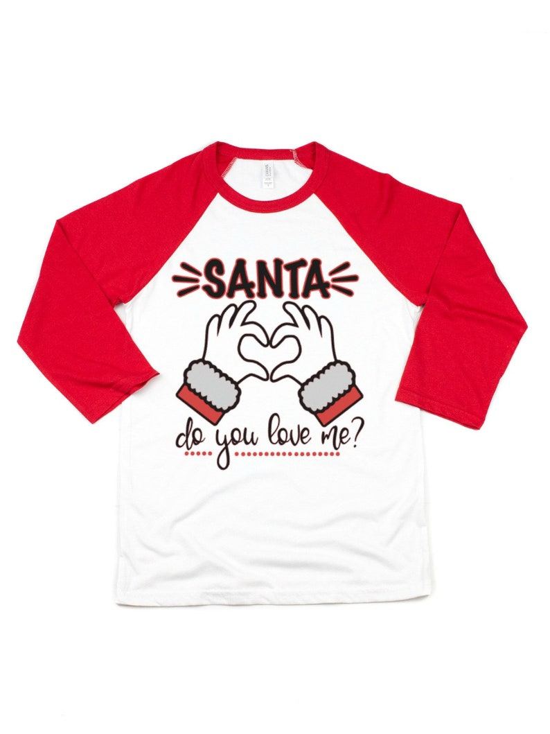 c40c6f5c8 Santa do you love me rap song christmas t-shirt cute   Etsy