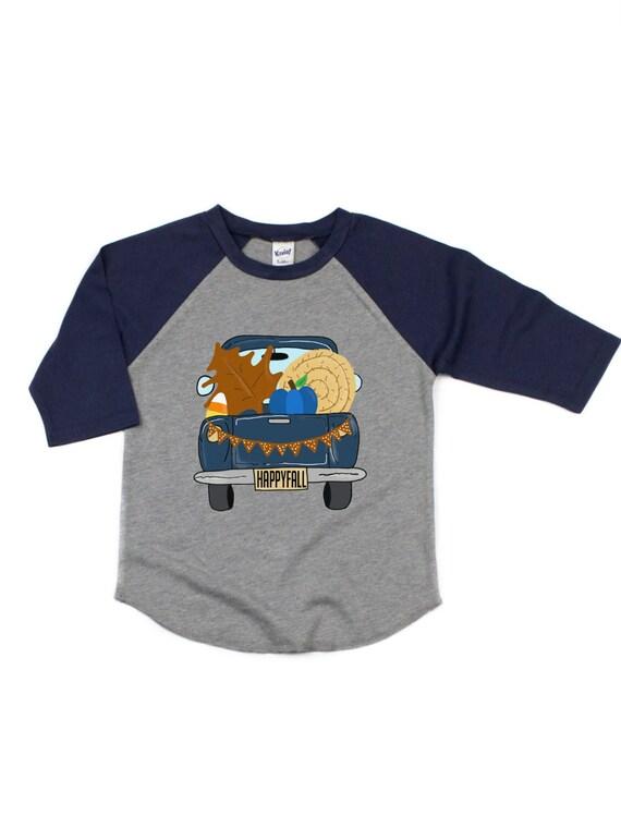 Boys Fall personalized Pumpkin Truck Shirt Boys custom pumpkin shirt