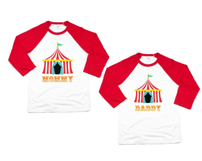 Circus Birthday Party T Shirts Mom And Dad