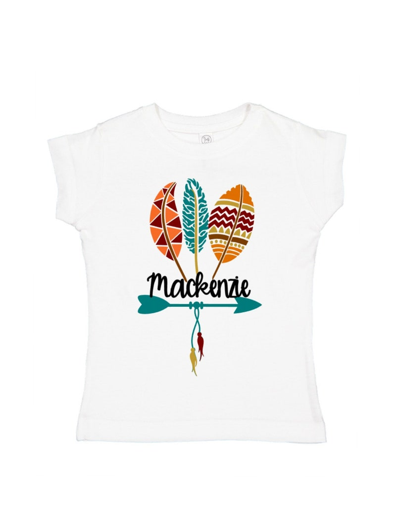 Kids fall clothes personalized girls shirt fall feathers  2fbe04b2941c