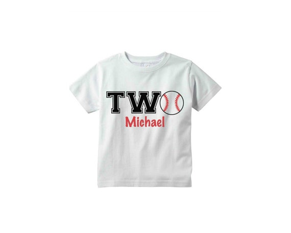 2nd Birthday Shirt Baseball