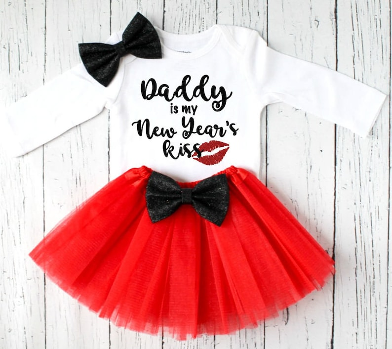 c2fff81a615b Daddy is my New Year s kiss girls outfit