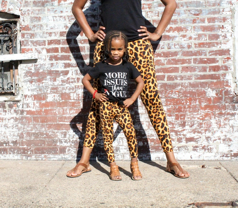 Mommy And Me Outfits Mom And Daughter Matching Leggings Etsy