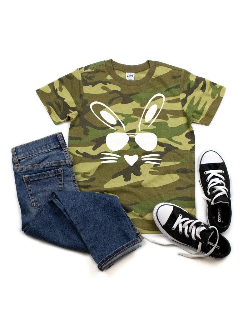 6b0dc741 Hip hop bunny camo t-shirt boys camo tee easter bunny | Etsy