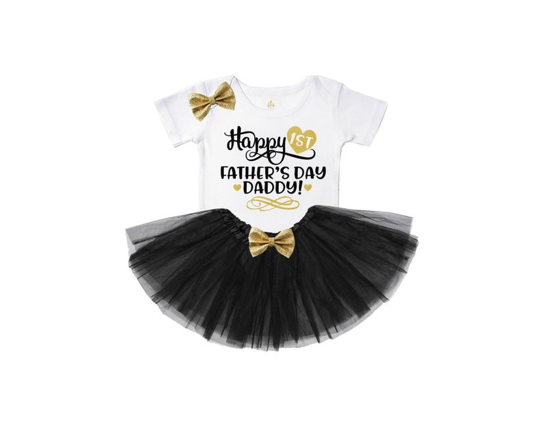 ed2ba5009abe Happy 1st father's day daddy girls tutu outfit baby girl | Etsy