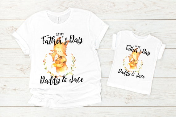 Our First Father/'s Day together Father/'s Day Gift 1st Fathers Day Papa Bear First Father/'s Day Gift from Baby Happy 1st Father/'s Day Shirt