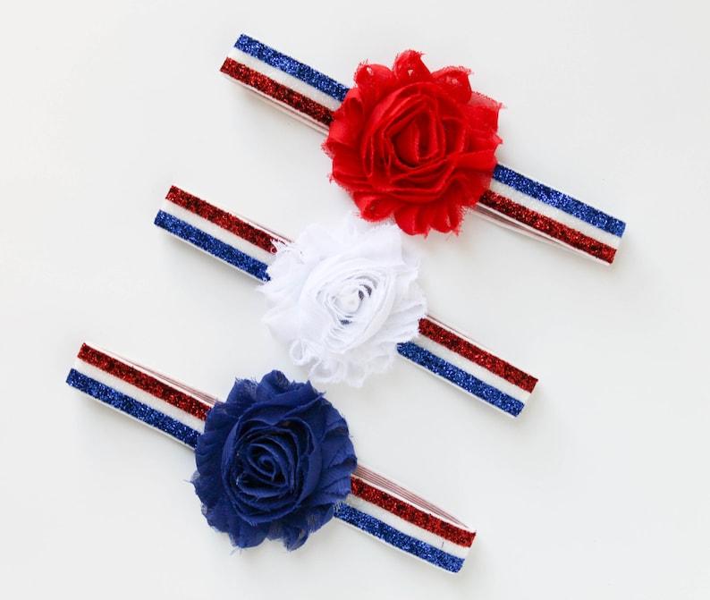 baby girl headband patriotic headband 4th of july baby headband 4th of july headband baby flower headband red white blue headband