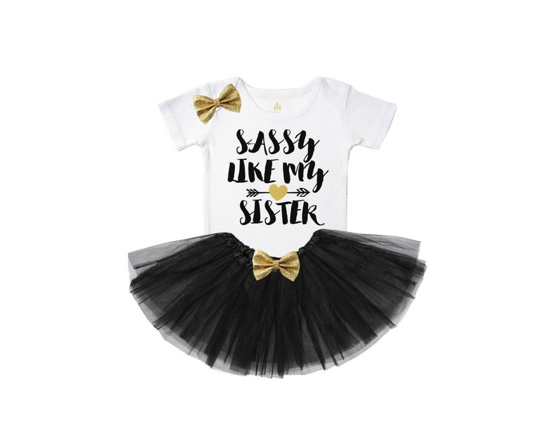 bc20e89a95509 sassy like my sister - best friends shirts - baby girl clothes - baby girl  outfits - new sister shirt - baby sister outfit - girl top