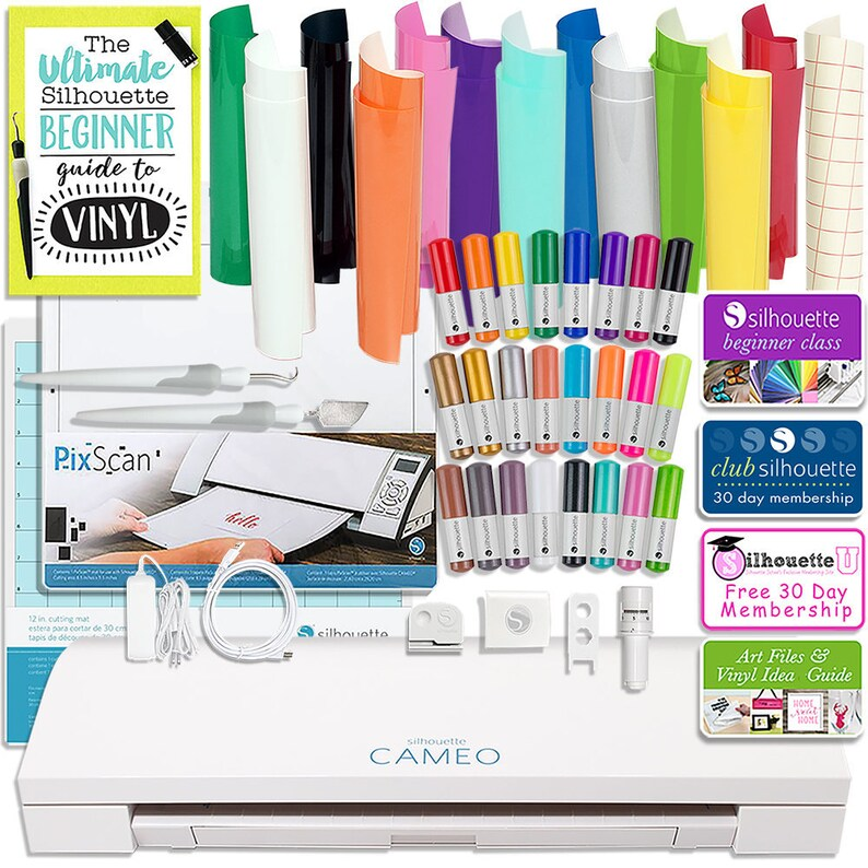 24 Pack S Guides Silhouette Blue Cameo 3 Bluetooth Bundle 26 Oracal 651 Sheets