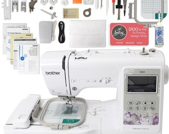 """Brother SE600 Computerized Sewing and Embroidery Machine with 4"""" x 4"""" Embroidery Area"""