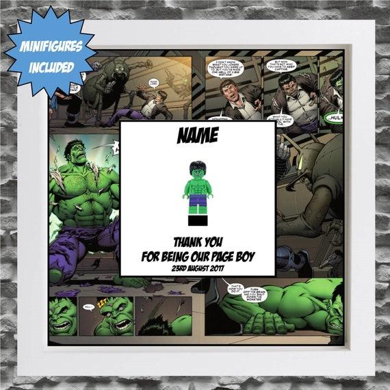 The Hulk Best Man, Groomsman, Usher, Page Boy Minifigure Frame