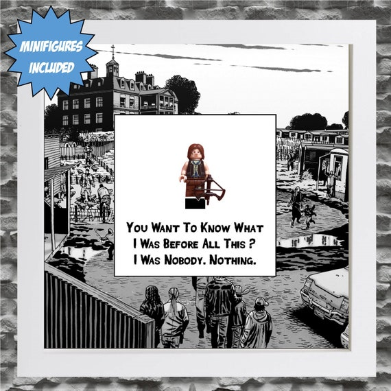 Walking Dead Daryl Dixon Minifigure Frame