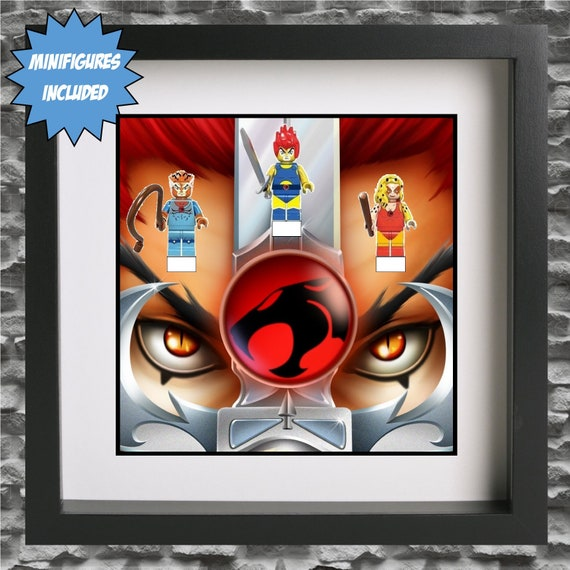 Thundercats 3PC Minifigure Frame, Mum, Gift, Geek, Box Frame, Friends, Dad, Idea, Birthday, Anniversary, For Him, Christmas