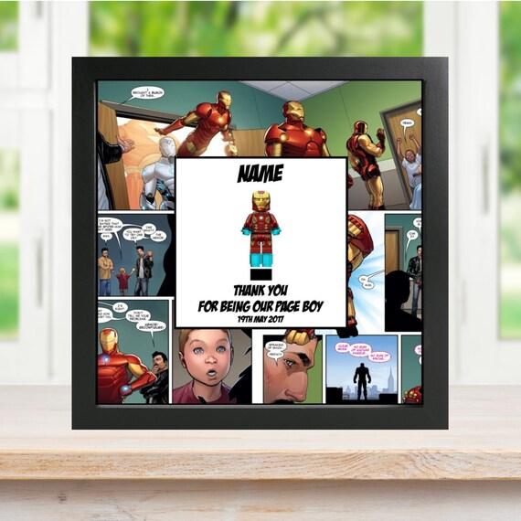 Ironman Best Man, Groomsman, Usher, Page Boy Minifigure Frame