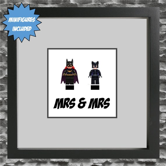 Mrs and Mrs Various Character Minifigure Frame