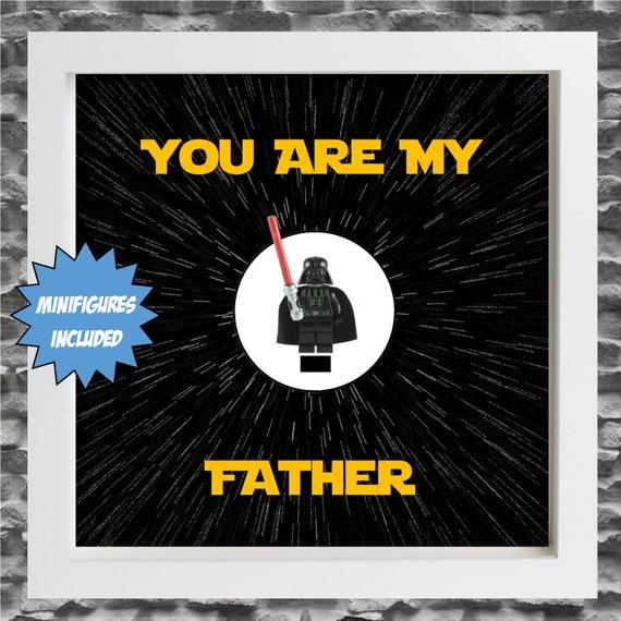 "Luke Skywalker ""You Are My Father"" Minifigure Frame"