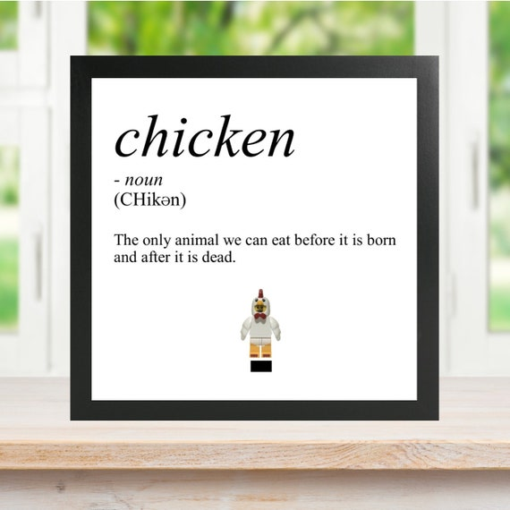 Chicken Definition Minifigure Frame