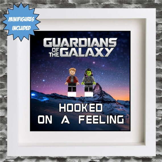 """Guardians Of The Galaxy """"Hooked On A Feeling"""" 3PC Minifigure Frame"""