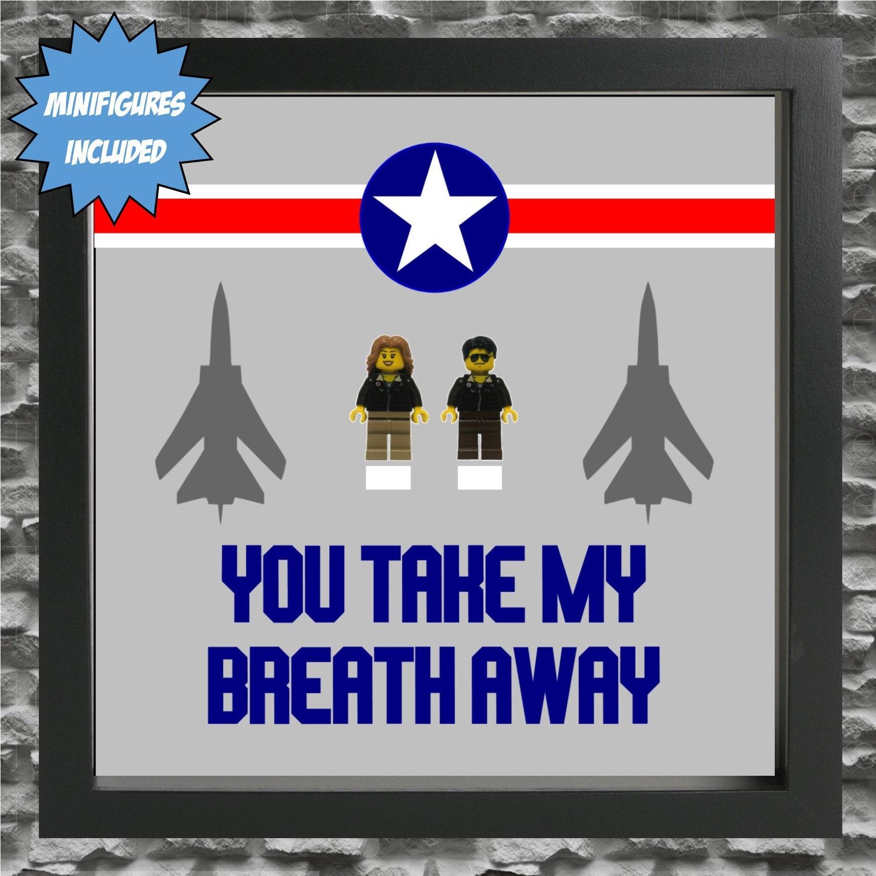 Top Gun Couple Minifigure Frame, Mum, Gift, Geek, Box Frame, Friends ...
