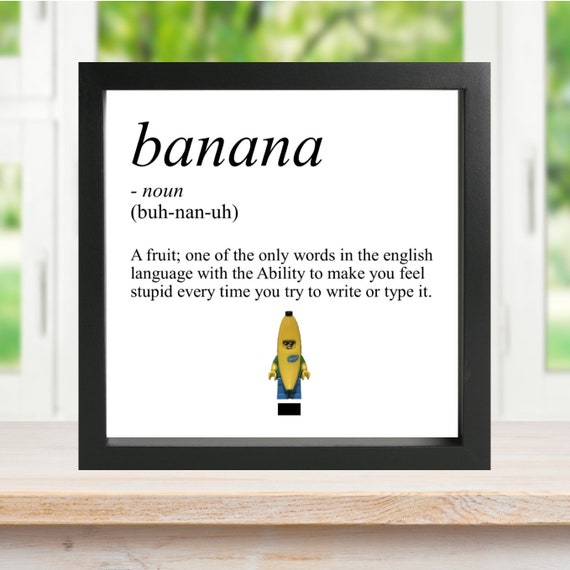Banana Definition Minifigure Frame