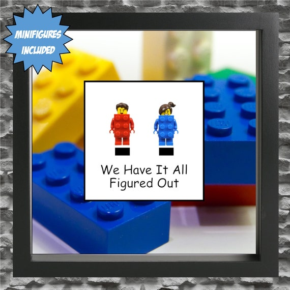 All Figured Out Couple Minifigure Frame