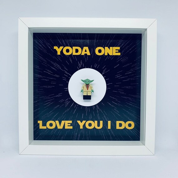 Yoda One For Me Minifigure Frame