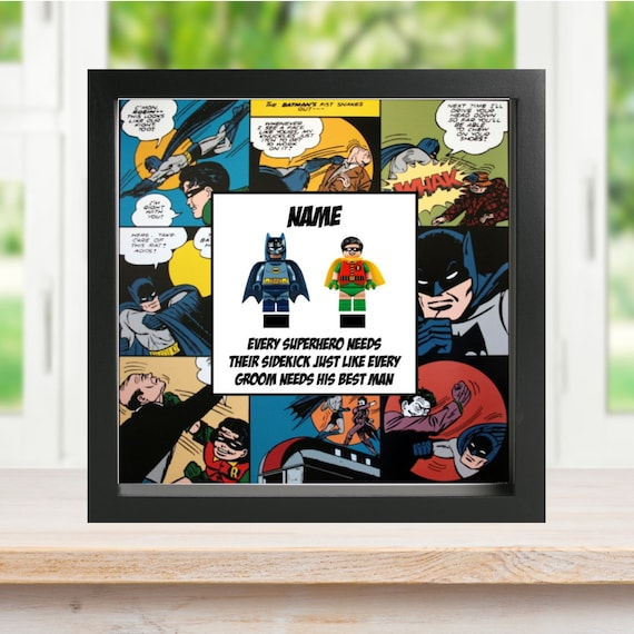 Batman & Robin Best Man Minifigure Frame