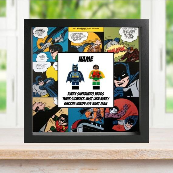 Batman & Robin Best Man Minifigure Frame