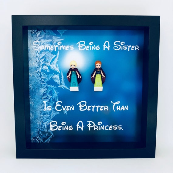 2PC Frozen Sister Minifigure Frame