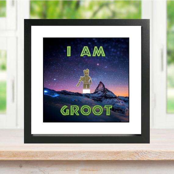 I Am Groot Minifigure Frame
