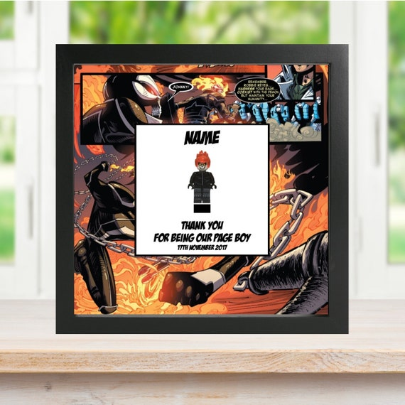 Ghost Rider Best Man, Groomsman, Usher, Page Boy Minifigure Frame