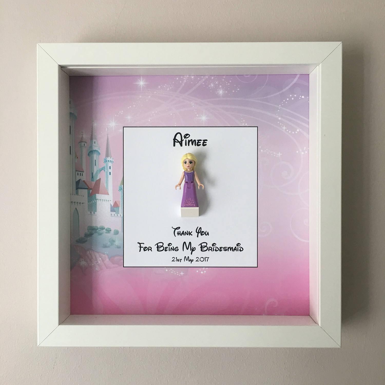 Bridesmaid Minifigure Frame, Mum, Gift, Geek, Box, Friends, Dad ...