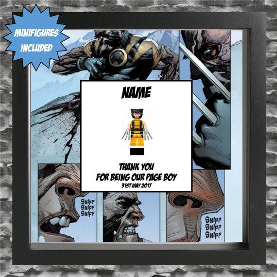 Wolverine Best Man, Groomsman, Usher, Page Boy Minifigure Frame