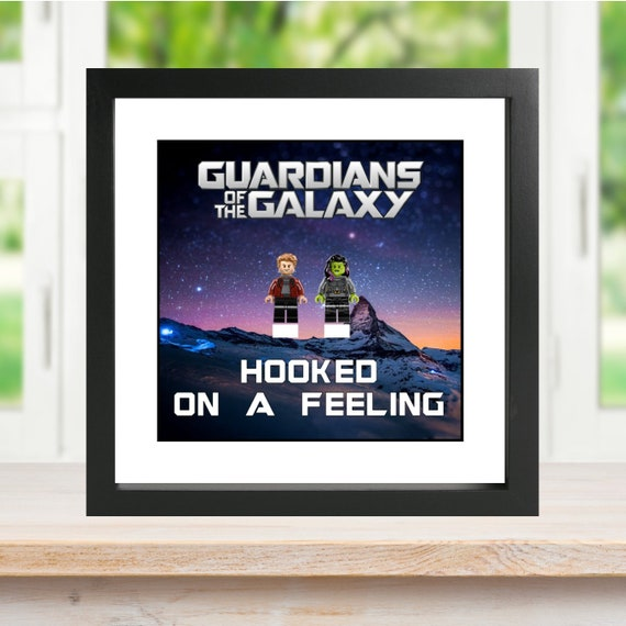 "Guardians Of The Galaxy ""Hooked On A Feeling"" 3PC Minifigure Frame"