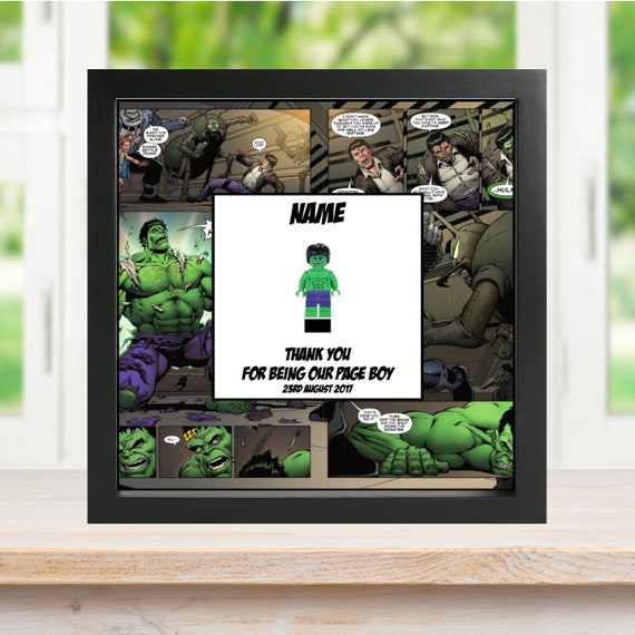 The Hulk Best Man, Groomsman, Usher, Page Boy Minifigure Frame