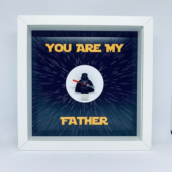 Star Wars Dad Minifigure Frame. Ideal For Valentines Or Birthdays