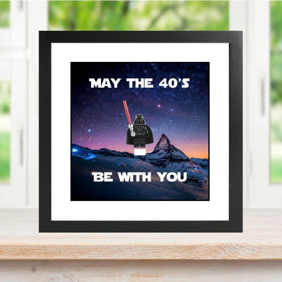 Star Wars May The 40's Be With You Minifigure Frame