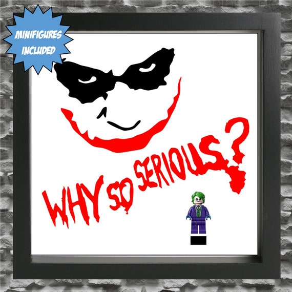 "The Joker ""Why So Serious"" Minifigure Frame"