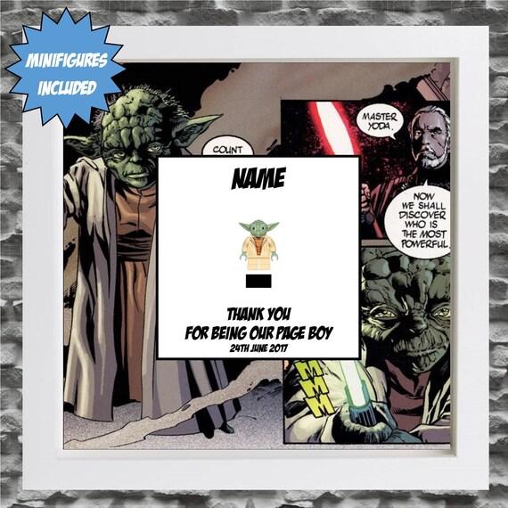 Star Wars Yoda Best Man, Groomsman, Usher, Ring Bearer Page Boy Minifigure Frame