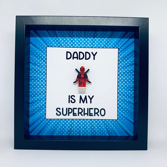 Dad Superhero Frame. Personalised, Personalized Birthday Ideal For Fathers Day