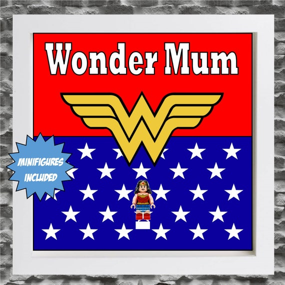"Wonder Woman ""Wonder Mum"" Minifigure Frame"