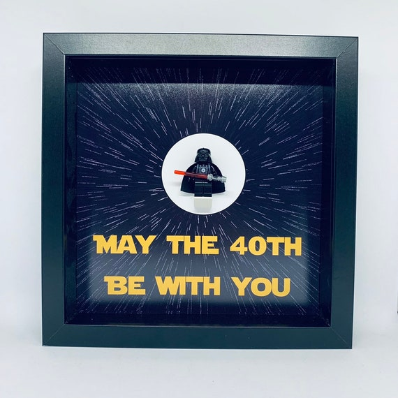 Star Wars May The 40th Be With You Minifigure Frame