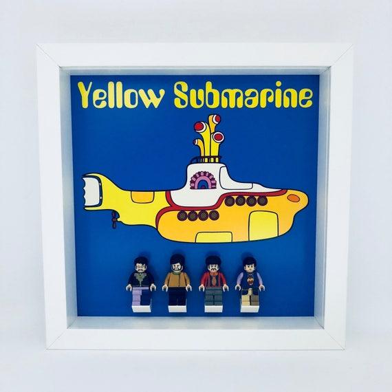 "The Beatles ""Yellow Submarine"" 4PC Minifigure Frame"